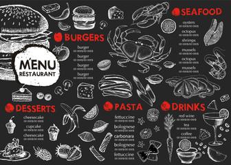 Restaurant cafe menu