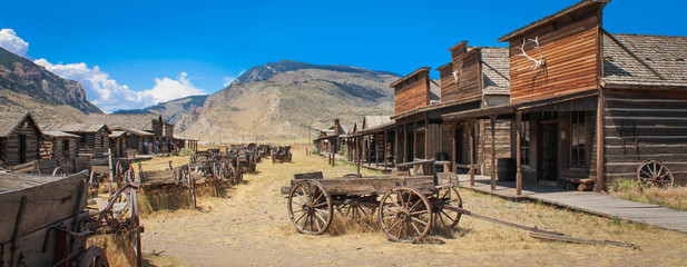 Cody / Wyoming (USA) - Ghost town Fotomurales