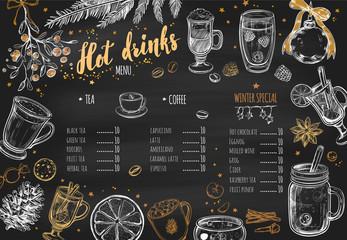 Hot drinks Winter Menu