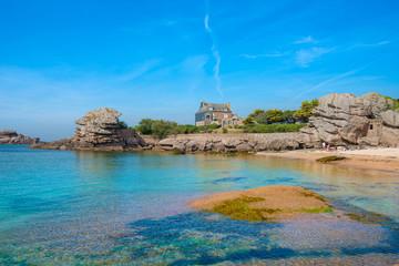 Ploumanach, Pink granite coast, Perros Guirec, Brittany, France