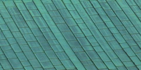 Kupferdach mit Patina