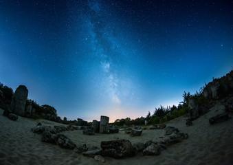 Milky Way under the Stone Desert