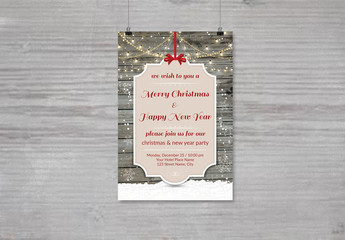 Christmas Party Invitation Flyer 7