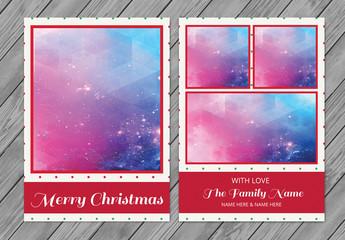 Christmas Photo Card Layout 1