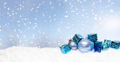 christmas blue stars