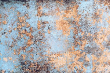 Grunge Blue Texture With Yellow Scratches and Stains