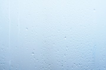 Excessive air humidity in the room resulted in condensation on the glass with water droplets
