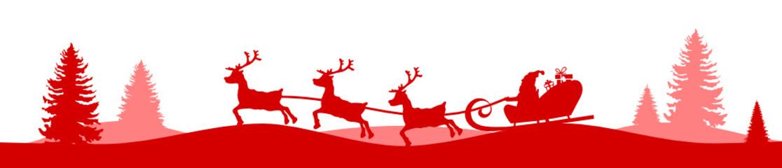 Weihnachtskarte Elch und Baum