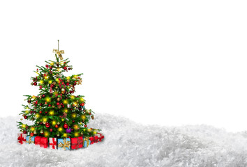 christmas three copy space