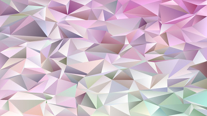 Abstract mosaic chaotic triangle pattern background - geometrical vector graphic design from light colored triangles