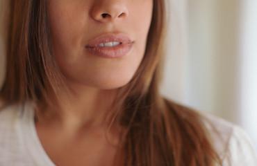 Portrait of beautiful brunette woman.