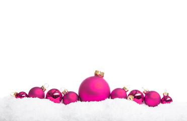 Pinke Weihnachtskugeln