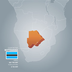 Botswana information map.