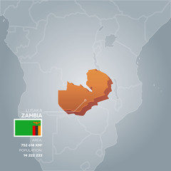 Zambia information map.