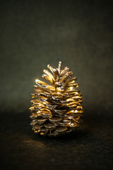 Golden pinecones