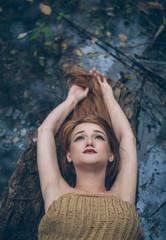 Woman Posing in Nature