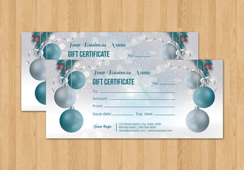 Christmas Gift Certificate Layout 1