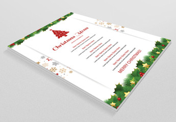 Christmas Menu Layout 3