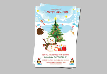 Christmas Party Invitation Flyer 19