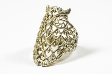 old ring in the shape of an owl