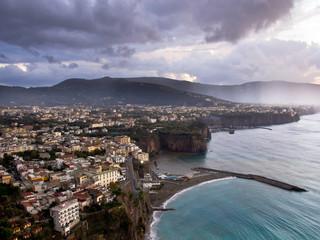Clouds gather over Sorrento. Amalfi Coast. Italy