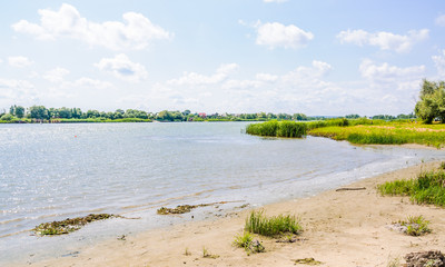 Shore of the Don river in the environs of Rostov-on-Don. Summer landscape