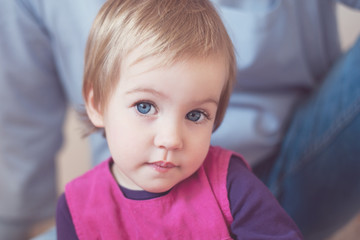 Face of a sweet and beautiful toddler girl