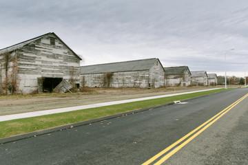 Urban Sprawl Encroaching Rural Connecticut Tobacco Farm