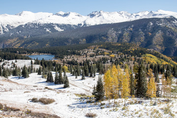 Autumn Molas pass near Silverton, Colorado in September