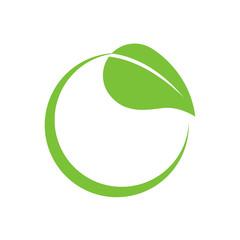 Eco-Friendly Leaf Circle Swoosh
