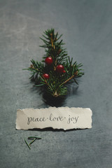 Christmas wish for peace, love, and joy