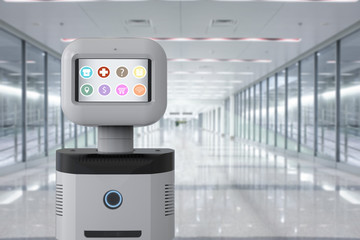 assistant robot with software