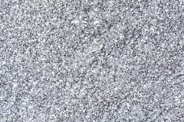 White glitter close-up