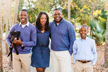 A beautiful African American family of four