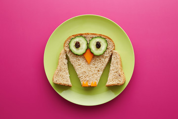 Food for kids - funny owl