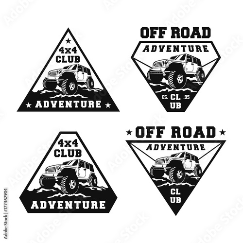 Set Off Road Car X Vehicle Event Show Festival Club Extreme - Event badge template