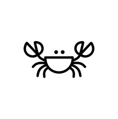 Crab logo hand drawing graphic design
