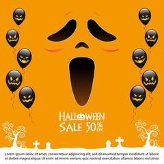 halloween Sale background