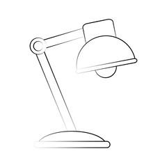 desk lamp icon image vector illustration design  black sketch line
