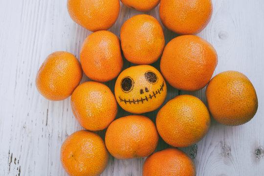 Tangerines for Halloween