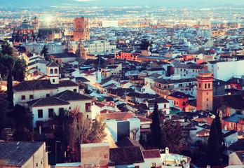 Granada in eveningt. Andalusia,  Spain