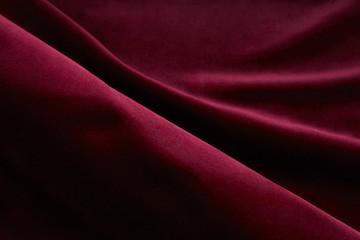 背景素材 赤いベロア ドレープ