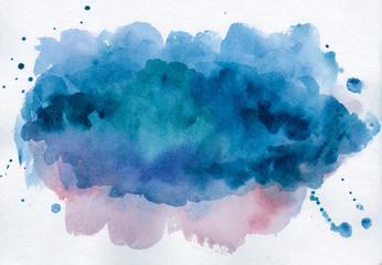 Bright watercolor spot. Abstract background
