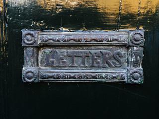 Ornate old letter box