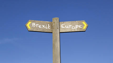 Brexit or Europe - Conceptual Signpost