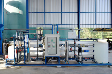 Reverse osmosis membrane system of water plant make up drinking water or soft water for  industrial cooling system