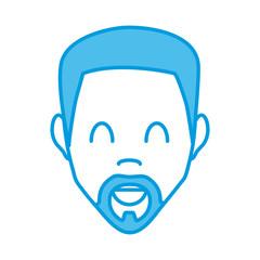 Man smiling face icon vector illustration graphic design