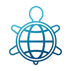 Turtle animal symbol icon vector illustration graphic design