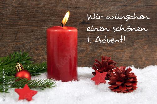 1 Advent Weihnachtlicher Hintergrund Stockfotos Und Lizenzfreie