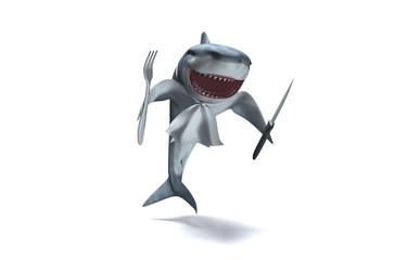 Requin rigolo prêt à passer à table